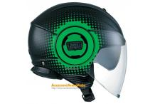 AGV FLUID PIX BLACK GREEN CASCO JET APERO