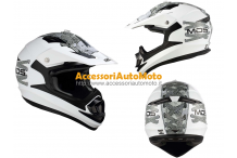 AGV MDS ONOFF LACE UP WHITE CASCO CROSS MOTARD QUOD