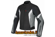 GIACCA MOTO DAINESE CRONO NERO/CASTLE-ROCK/BIANCO