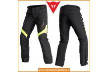 Dainese Pantaloni Moto Tempest D-Dry Nero Giallo Fluo