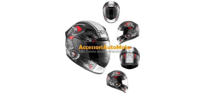 CASCO INTEGRALE IN FIBRA MDS NEW SPRINTER CREATURE RED