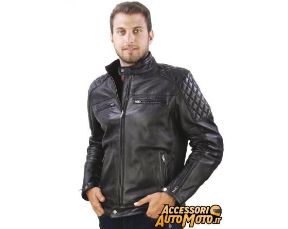 detailed pictures 55cd6 1122c OJ GARAGE Giacca Moto old-style vintage in pelle con protezioni