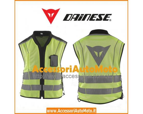 dainese gilet moto omologato high visibility pro giallo fluo. Black Bedroom Furniture Sets. Home Design Ideas
