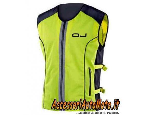 gilet moto alta visibilit giallo fluo oj vis fluorescente motorcycle clothing accessori. Black Bedroom Furniture Sets. Home Design Ideas