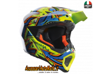 Casco CROSS OFFROAD IN FIBRA AGV AX-8 EVO SPRAY YELLOW/ORANGE