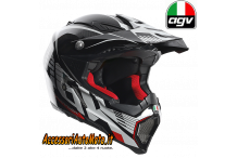 Casco CROSS CARBONIO PURO AGV AX-8 EVO CARBOTECH RED