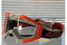 MASCHERA OCCHIALONI ARIETE MX RIDING CROWS TOP ARANCIO-FLUO