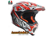 Casco CROSS OFF-ROAD IN FIBRA AGV AX-8 EVO SCRATCH
