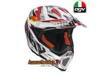 Casco CROSS OFF-ROAD ENDURO IN FIBRA AGV AX-8 EVO WHIP