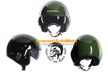 Casco Moto Diesel HI-JACK MULTI Black-Green