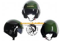 Casco Moto Diesel HI-JACK MULTI Black-Green
