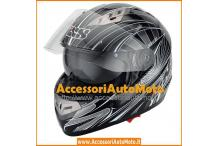 IXS HX 450 TRANCER CASCO INTEGRALE IN FIBRA - OCCHIALINO SCURO