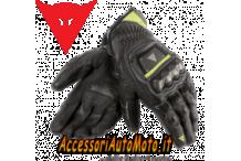 Guanti Moto Pelle Guanto Dainese 4-Stroke Nero/Giallo-Fluo