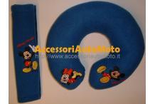 Salvacollo Disney Riposa nuca e Copricintura Mickey Mouse