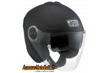 AGV FIBERLIGHT NERO OPACO CASCO IN FIBRA