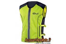 Gilet Moto Alta Visibilità Giallo Fluo OJ VIS Fluorescente