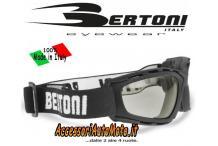 MASCHERA OCCHIALI FOTOCROMATICI BERTONI F120A MOTO BICI