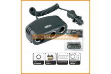 RING TRIPLA PRESA ACCENDISIGARI con tester batteria Auto 12V
