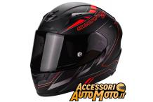 Scorpion Exo-2000 Air Cup Nero Opaco Rosso Fluo