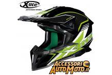 X-lite X-502 Blackflip Nero-verde